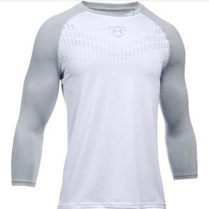 Under Armour Heater 3/4 Sleeve Baseball Shirt